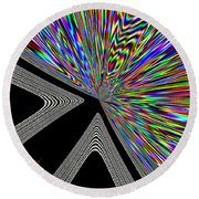 Round Beach Towel featuring the digital art The Point by Will Borden