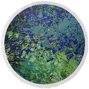 The Pond Round Beach Towel