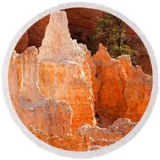 The Pope Sunrise Point Bryce Canyon National Park Round Beach Towel