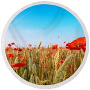 Summer Poetry Round Beach Towel