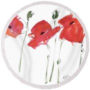 The Poppy Ladies Round Beach Towel