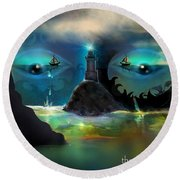 The Power Of Imagination Round Beach Towel