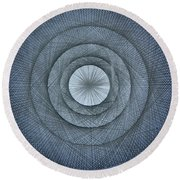 The Power Of Pi Round Beach Towel