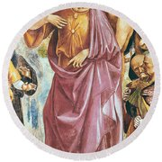 The Preaching Of The Antichrist Round Beach Towel