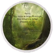 The Princess Bride - Hello Round Beach Towel