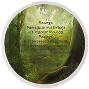 The Princess Bride - Mawage Round Beach Towel