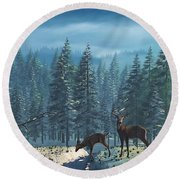The Protector Round Beach Towel by Ken Morris