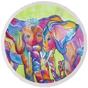 The Protectors Round Beach Towel