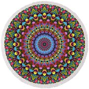 The Psychedelic Days Round Beach Towel by Lyle Hatch