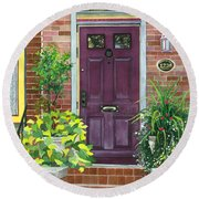 The Purple Door Round Beach Towel