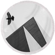 The Pyramids Of Love And Tranquility Round Beach Towel