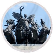 The Quadriga Round Beach Towel