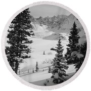 The Quiet Season Round Beach Towel