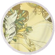 The Quill Round Beach Towel