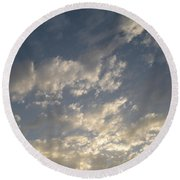 The Rain Storm  Round Beach Towel by Joseph Baril