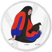 The Raven From Artist Proof 1 Round Beach Towel