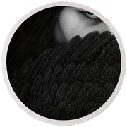 The Reckoning Round Beach Towel by Pat Erickson