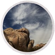 The Reclining Woman Round Beach Towel by Laurie Search