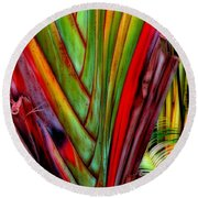 The Red Jungle Round Beach Towel