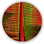 Round Beach Towel featuring the photograph The Red Palm by Joseph J Stevens