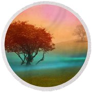 The Red Tree Round Beach Towel
