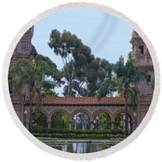 The Reflection Pool Round Beach Towel