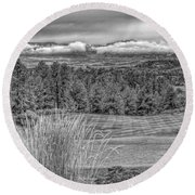 Round Beach Towel featuring the photograph The Ridge 18th by Ron White