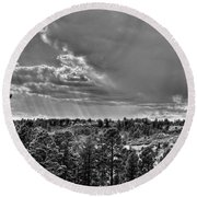 Round Beach Towel featuring the photograph The Ridge Golf Course by Ron White