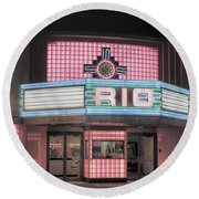The Rio At Night Round Beach Towel by Lynn Sprowl