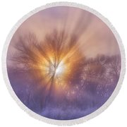The Rising Round Beach Towel