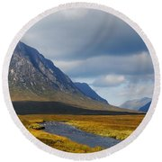 Round Beach Towel featuring the photograph The River Runs Through It by Wendy Wilton