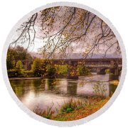 The Riverside At Avenham Park Round Beach Towel
