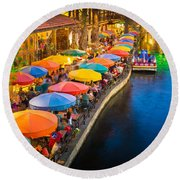 The Riverwalk Round Beach Towel
