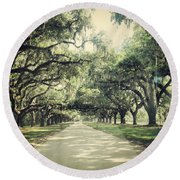 The Road From Boone Hall Round Beach Towel