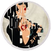 The Rocky Horror Picture Show - Dr. Frank-n-furter Round Beach Towel by Ayse Deniz