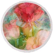 The Romance Of Roses Round Beach Towel