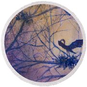 The Rookery Revisited Round Beach Towel