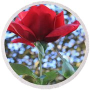 The Rose And Bud Round Beach Towel
