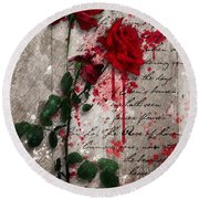 The Rose Of Sharon Round Beach Towel