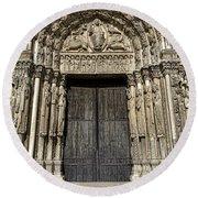 The Royal Portal At Chartres Round Beach Towel