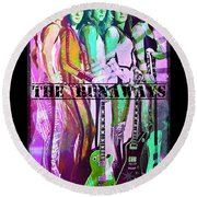 The Runaways Round Beach Towel by Absinthe Art By Michelle LeAnn Scott