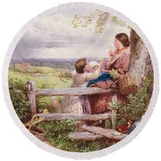 The Rustic Stile Round Beach Towel