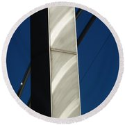 The Sail Sculpture  Round Beach Towel