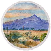The San Tans Round Beach Towel by Marilyn Smith