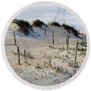 The Sands Of Obx II Round Beach Towel by Greg Reed