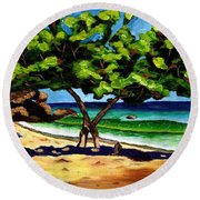 The Sea-grape Tree Round Beach Towel