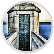 The Secret Door Round Beach Towel