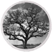 The Sentinel Bw Round Beach Towel