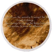 The Serenity Prayer 1 Round Beach Towel by Andrea Anderegg