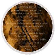 The Serenity Prayer Round Beach Towel